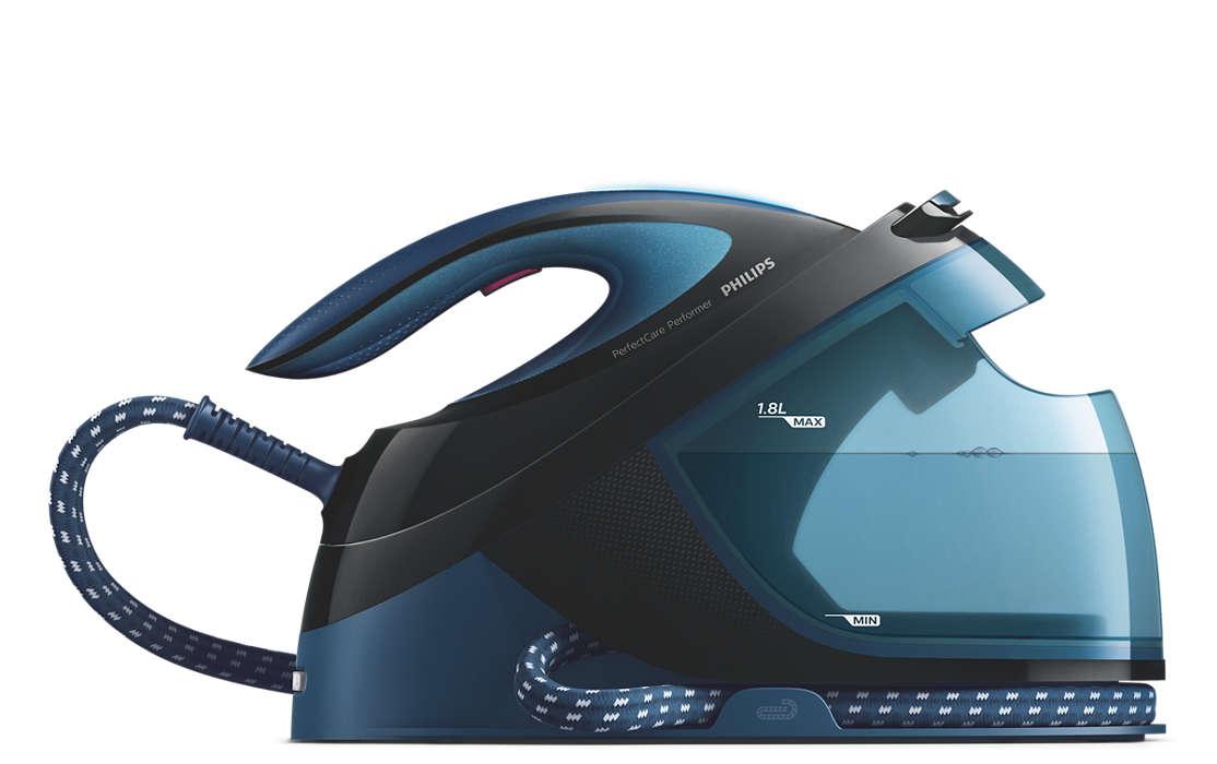PHILIPS PerfectCare Performer Tvaika gludināšanas sistēma, 2600W (zila) GC8735/80 Gludeklis