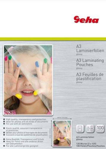 Laminierfolie GEHA    A3   100er Pack 125 Mic laminators