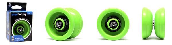 YoYoFactory YO-YO VELOCITY 21. gadsimta rotaļlieta iesācējiem ar iemaņām, zaļš YO 380 7214