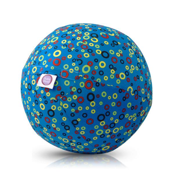 Bubabloon lateksa balons ar auduma pārvalku, Circles Blue 040345