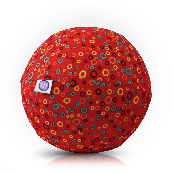 Bubabloon lateksa balons ar auduma pārvalku, Circles Red 040352