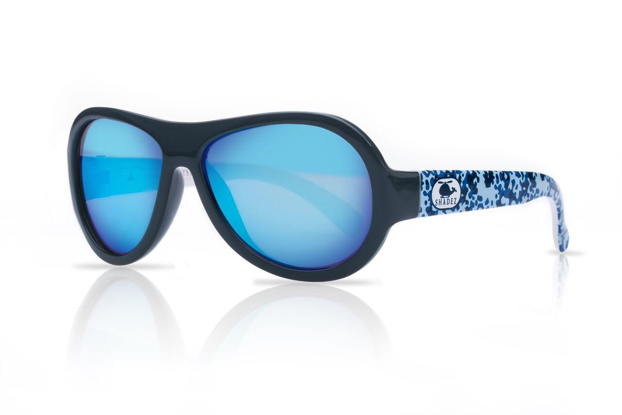 Akcija! SHADEZ Designer Helicopter Camo Blue Junior bērnu saules brilles, 3-7 gadi SHZ 42 6558 saulesbrilles