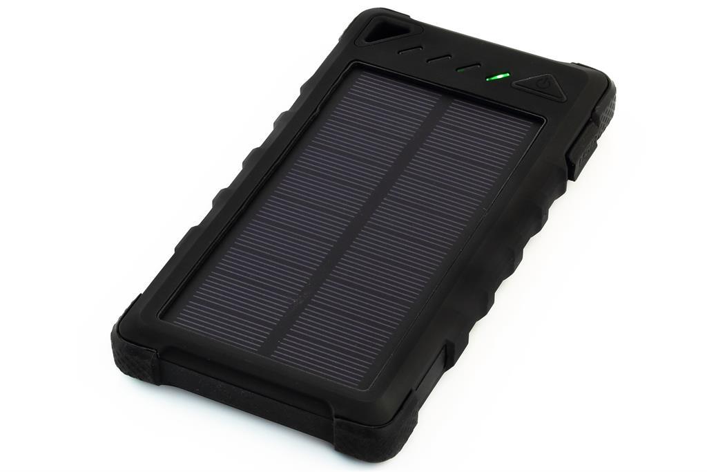 PowerNeed Sunen Power Bank 8000mAh with solar panel 1W, black iekārtas lādētājs