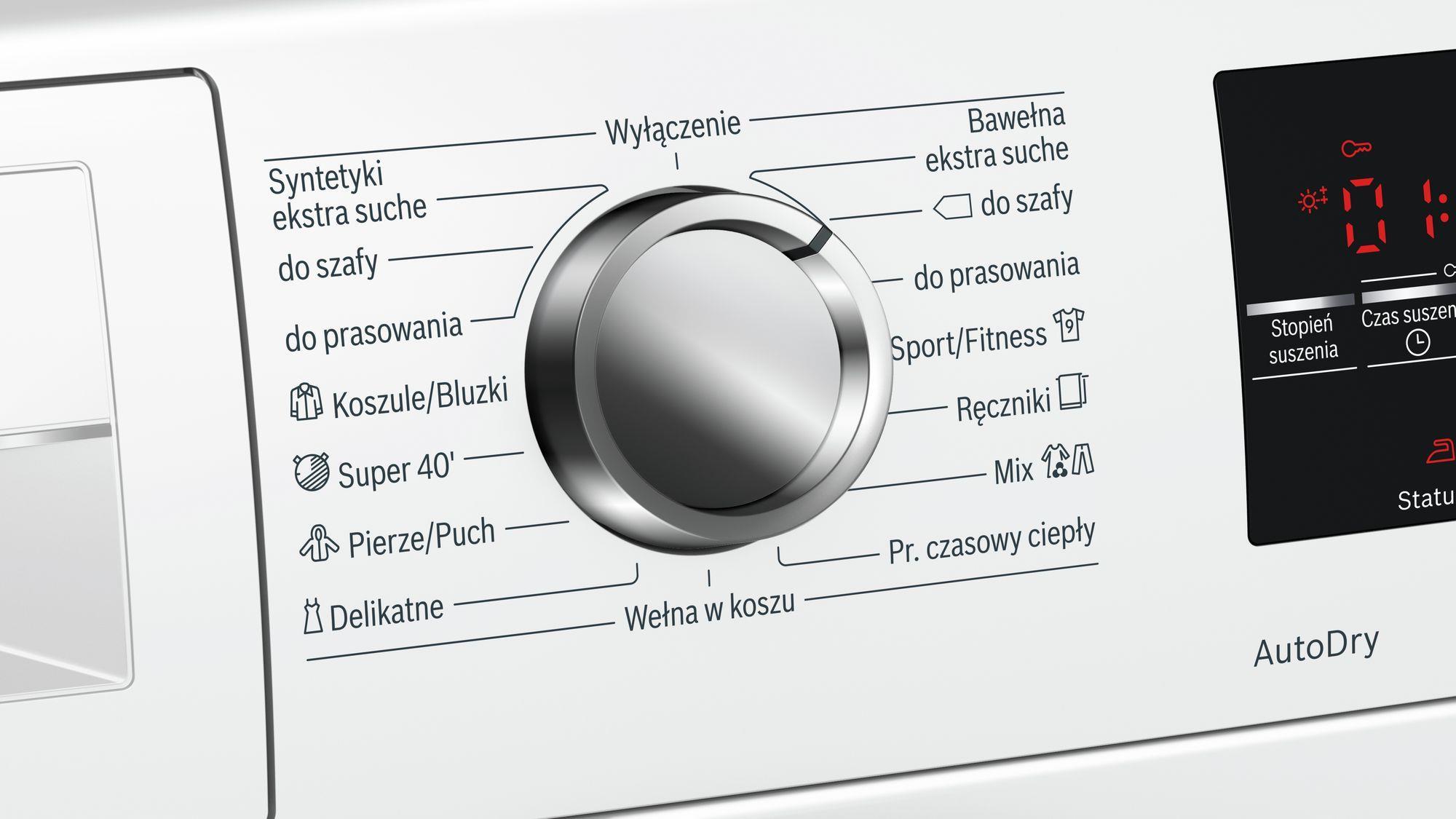 Dryer    BOSCH  WTW8546KPL (9 kg; 599 mm) WTW8546KPL Veļas žāvētājs