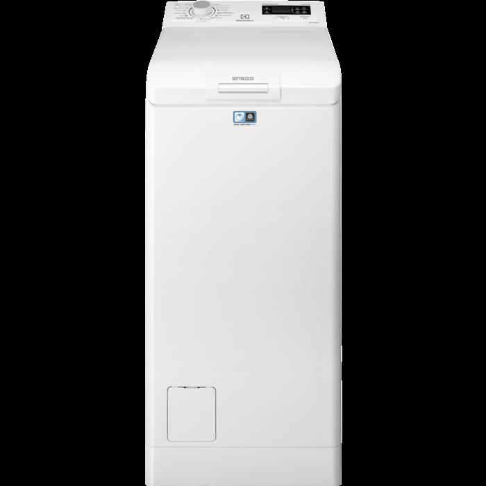 Electrolux Washing machine  EWT1262IFW  Top loading, Washing capacity 6 kg, 1200 RPM, A++, Depth 60 cm, Width 40 cm, White, LED, Display, Veļas mašīna