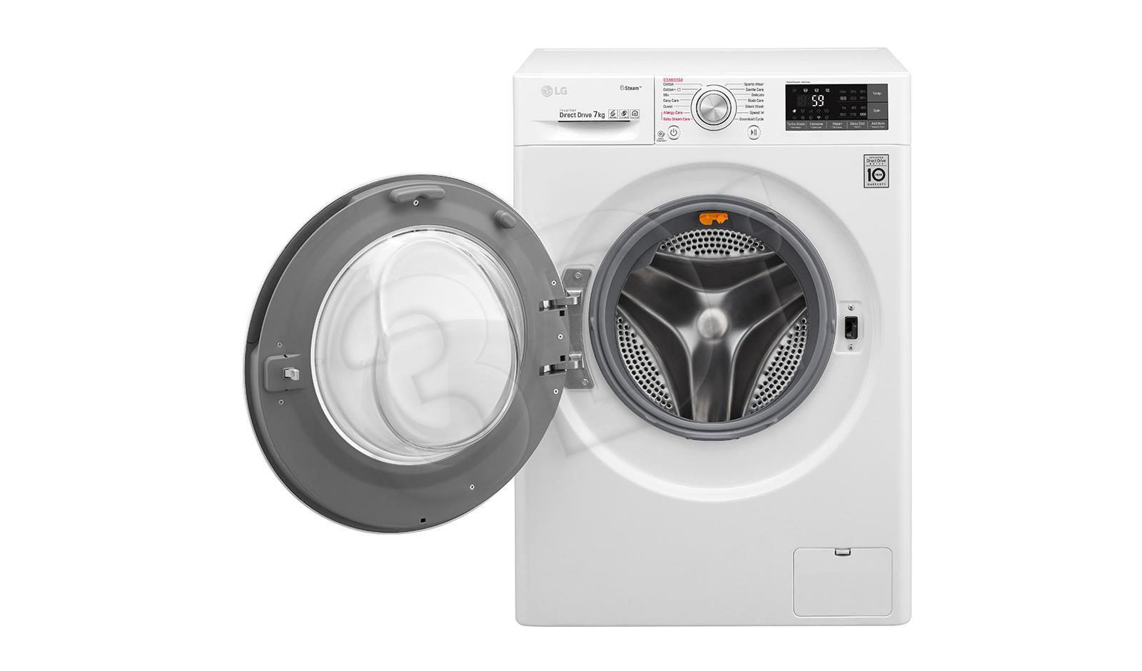 Washing machine   LG  F2J7HY2W (1200 rpm; 7 kg; 450 mm; Class A+++; white color) F2J7HY2W Veļas mašīna