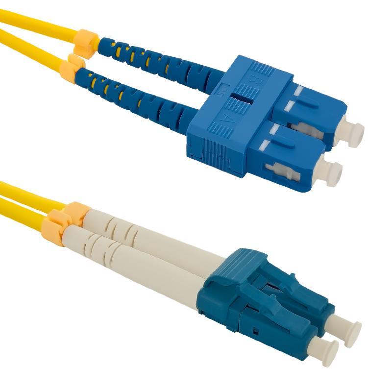 Qoltec Optic Patchcord SC/UPC-LC/UPC SM 9/125 G652D 3m kabelis, vads