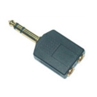 MicroConnect AUDANS Adapter 6.3mm - 2X3.5mm M-F Stereo