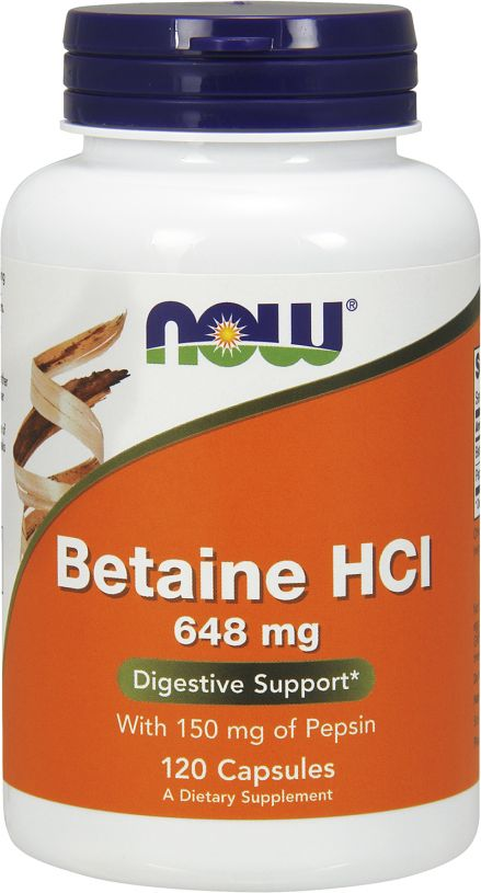 NOW Foods Betaine HCL 120 capsules