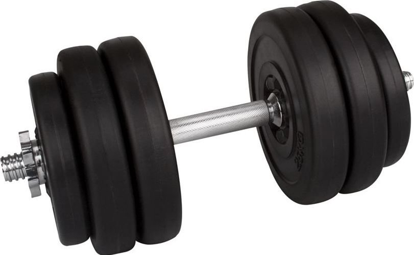 Avento A set of 15kg coated dumbbells hanteles