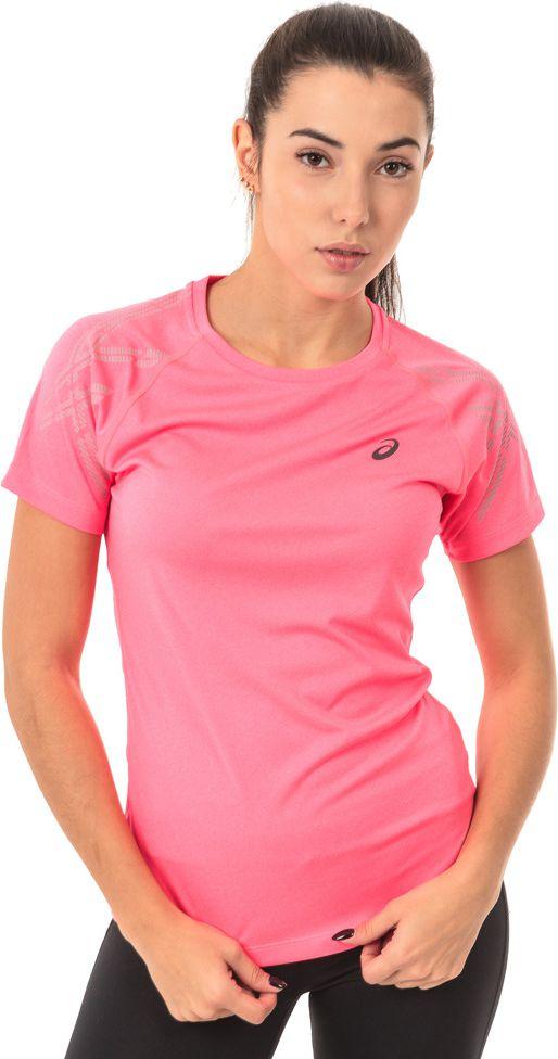 Asics Koszulka damska Stripe Top Asics Diva Pink Heather rozowa r. L (1412246039) 1412246039