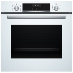 Bosch Oven HBA537BW0S Built-in, 71 L, White, Eco Clean, A, Push pull buttons, Height 60 cm, Width 60 cm, Integrated timer, Electric Cepeškrāsns