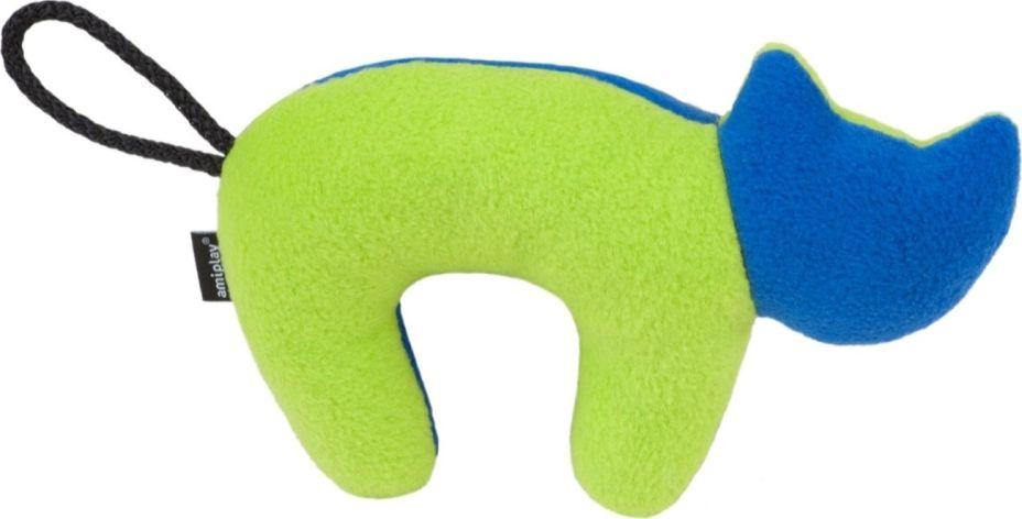 Ami Play Zabawka dla psa Kot Squeaky plush zielono-granatowy 5907563256736 piederumi kaķiem