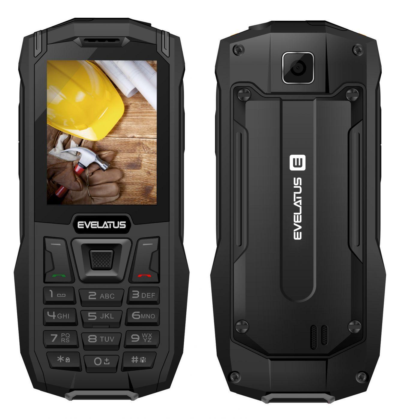 Evelatus ROCK Dual Sim Black (LAT, RUS, ENG) Mobilais Telefons