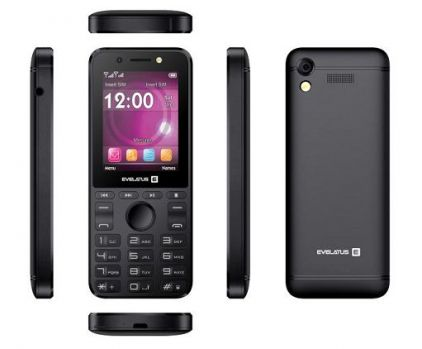 Evelatus Tron Dual Sim Black (LAT, RUS, ENG) Mobilais Telefons