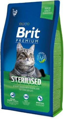 Brit Premium Cat New Sterilised 8kg kaķu barība