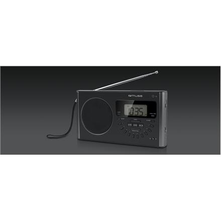 Muse M-089 R Black, Alarm function, 4-band PLL Portable Radio mūzikas centrs
