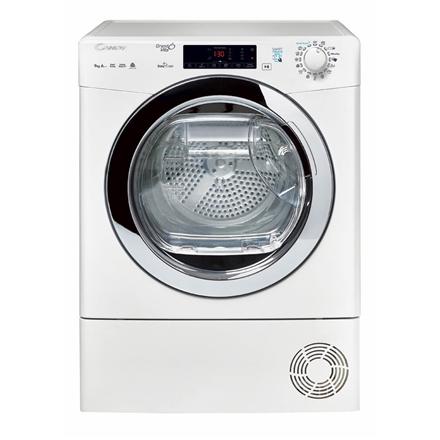 Candy Dryer Mashine GVS H9A2TCE-S Condensed, Heat pump, 9 kg, Energy efficiency class  A++, White, Depth 59.5 cm, Display, LED CVS H9A2TCE-S Veļas žāvētājs
