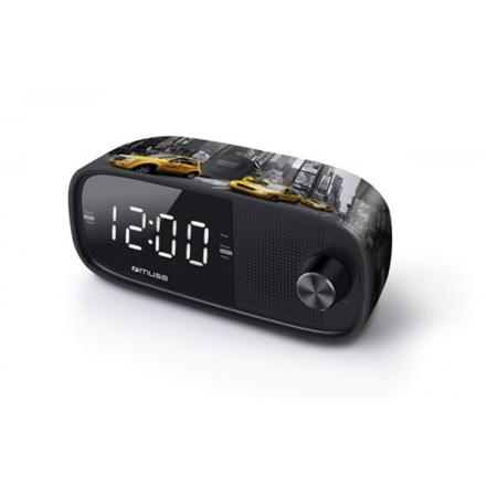 Muse M-168NY Black, Alarm function, Clock Radio PLL mūzikas centrs