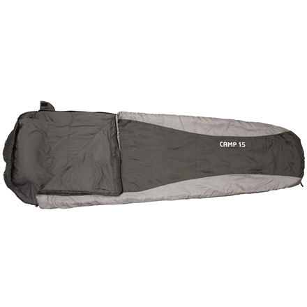FRENDO Camp 15, Sleeping bag, 215x80(55) cm, +15/+10/0 °C, Right side zipper 301315 guļammaiss