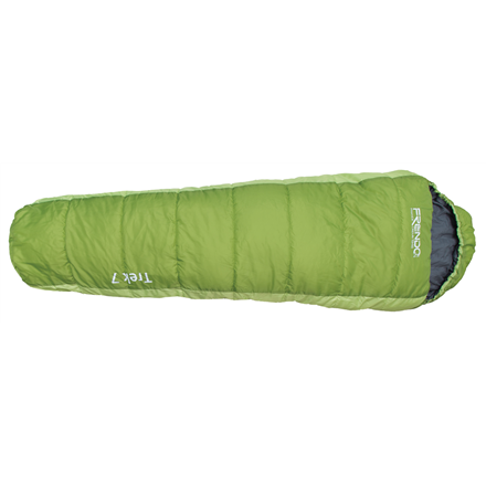 FRENDO Trek 7, Sleeping bag, 215x80(55) cm, +7/-3/-12 °C, Right side zipper 301316 guļammaiss