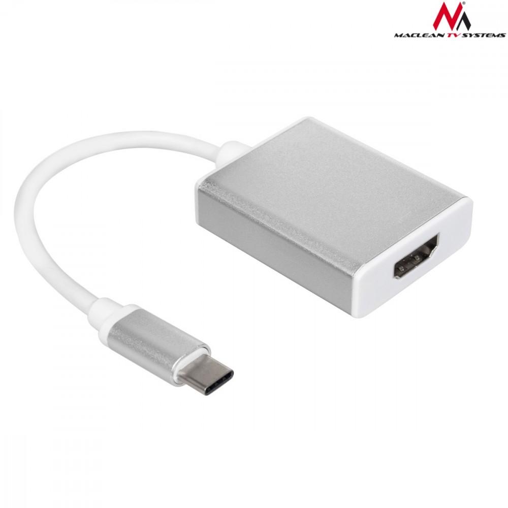 Maclean MCTV-841 USB-C adapter - HDMI 1080p 60Hz metal housing