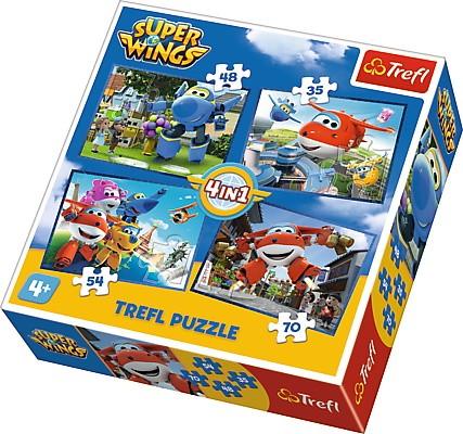 Trefl 4in1 Super Pack Super Wings (34280) puzle, puzzle