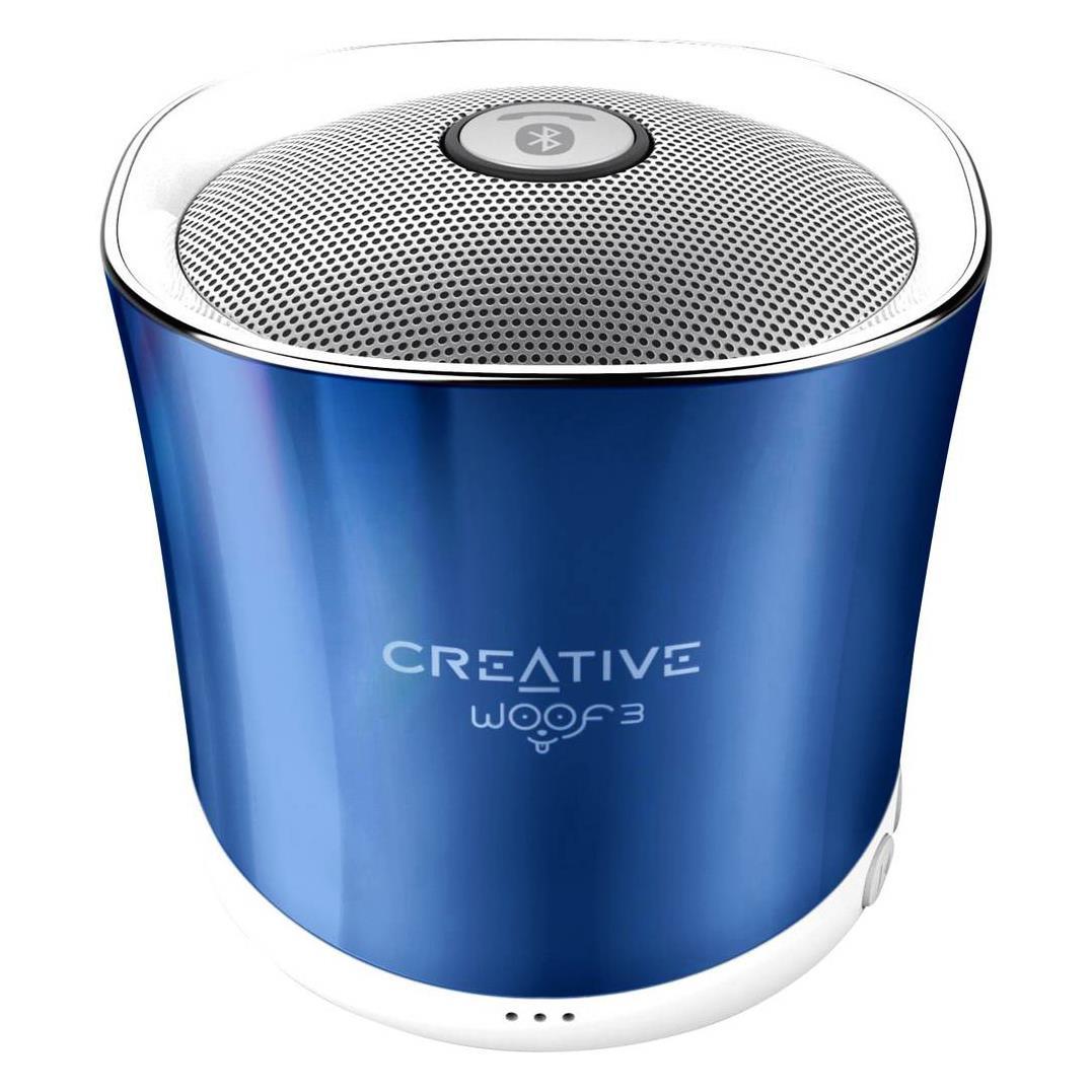 Portable speaker Creative Woof 3 Blue, BT2.1, 500mAh, Microphone pārnēsājamais skaļrunis