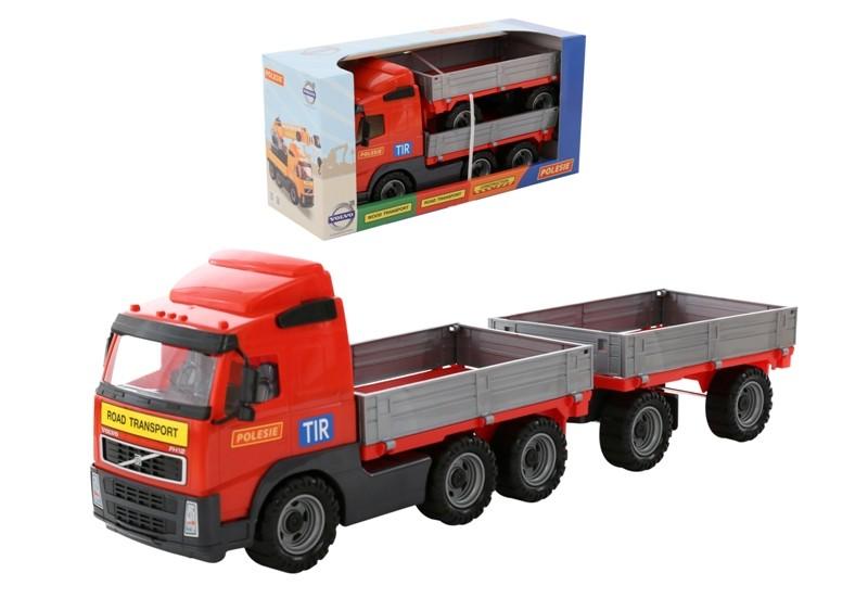 Wader Polesie Truck with sides and trailer - 9722 Rotaļu auto un modeļi