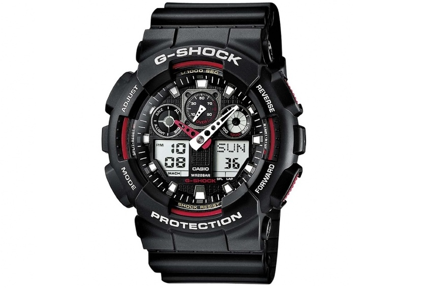 Casio G-Shock Men`s Combi Watch With Resin Strap- GA-100-1A4ER Rokas pulksteņi