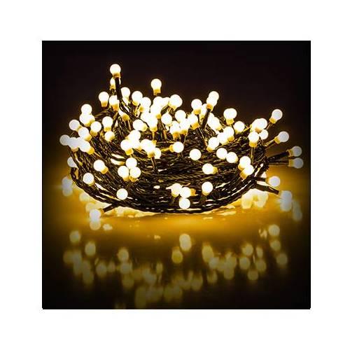 Retlux 200 LED spuldzīšu virtene. Silti baltā krāsa. 3,6W