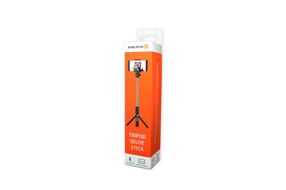 Evelatus Selfie Stick Tripod SST01 Black Selfie Stick