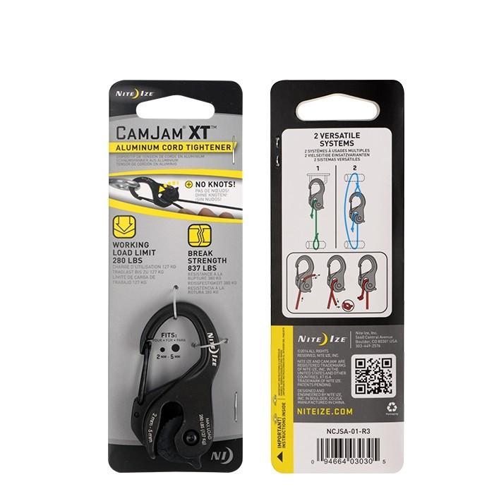NITE IZE Carabiner for tensioning CamJam XT aluminum black