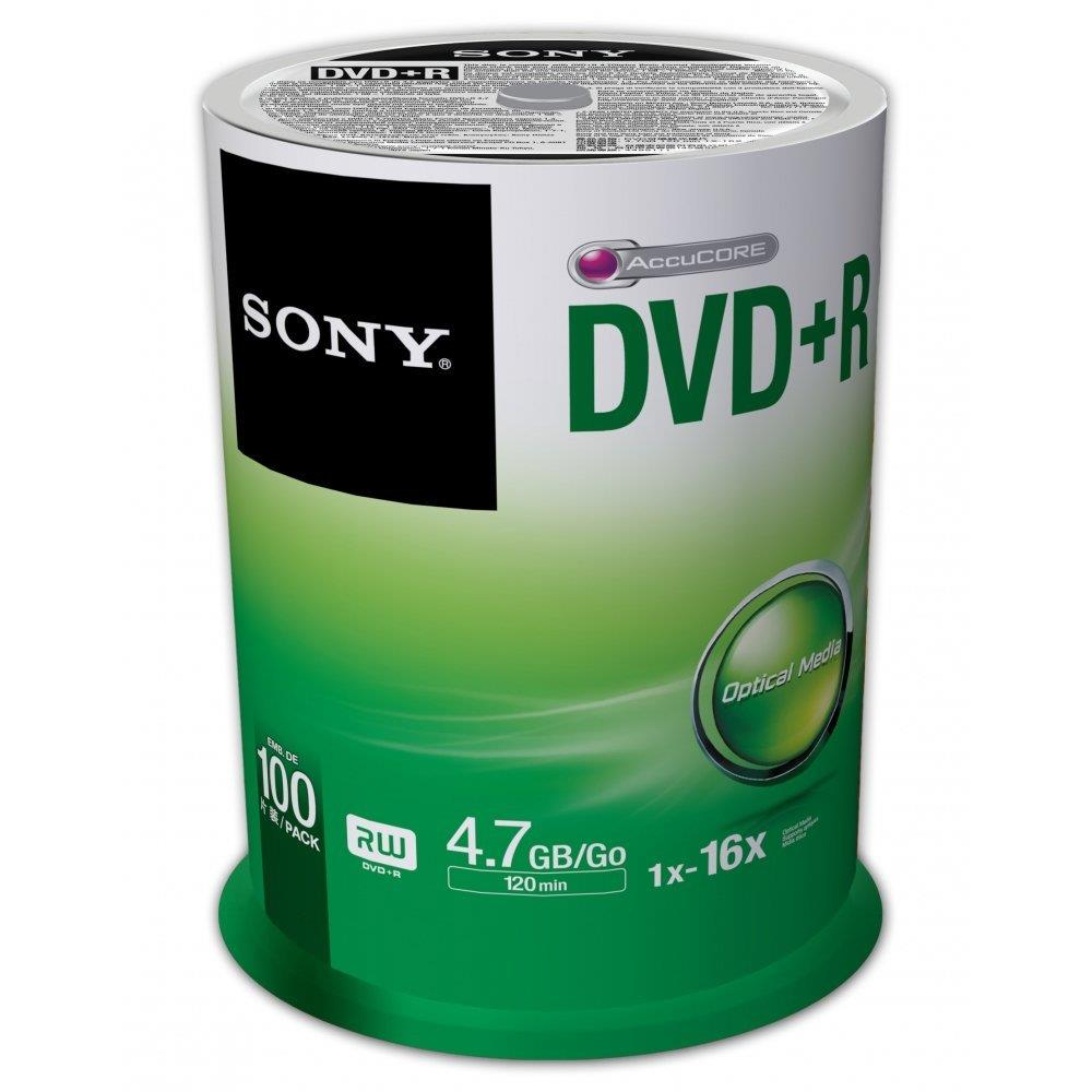 Sony DVD+R 4,7 GB | 16x [cake 100 pcs] matricas