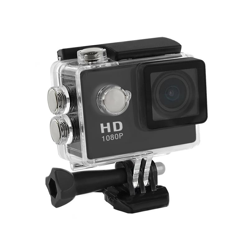 2.0'' Waterproof Sports Camera Full HD QOLTEC for helmet/bike/car | Black Video Kameras