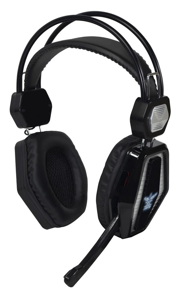 X-ZERO Stereo GAMING headphones with microphone X-H352KS black-silver