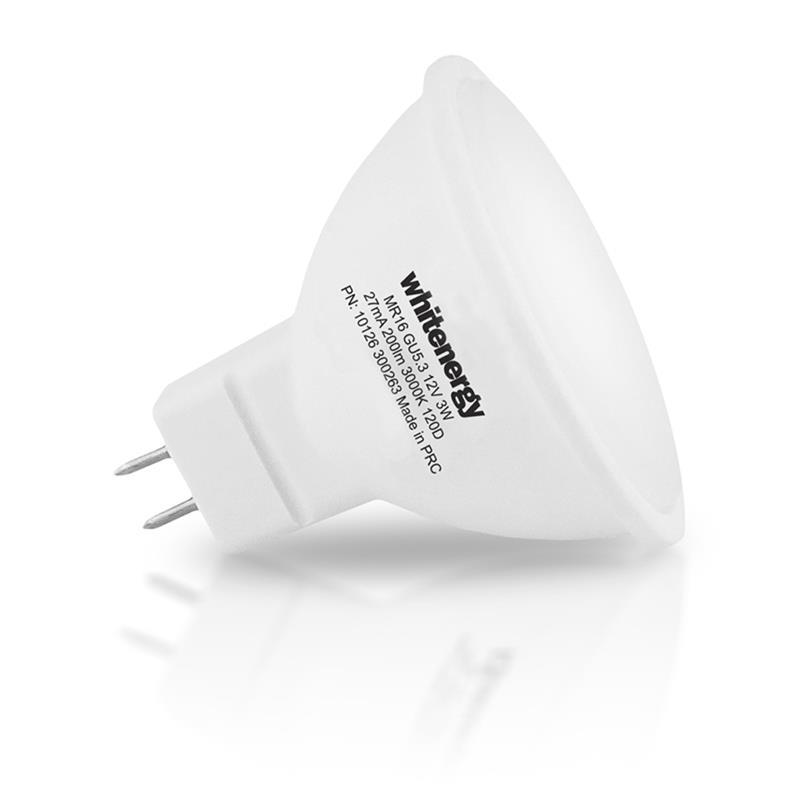 Whitenergy LED bulb   GU5.3   10 SMD 2835   5W   230V   milky   MR16 apgaismes ķermenis
