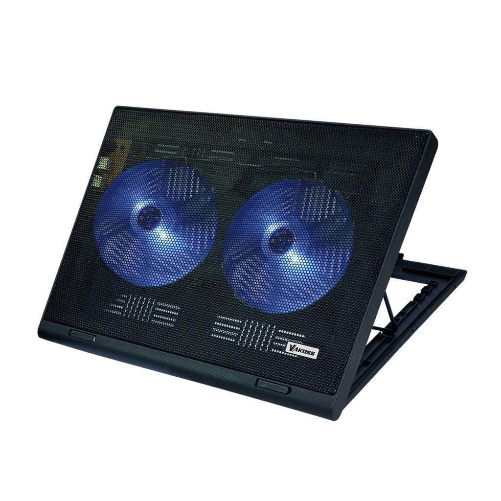 VAKOSS Laptop Cooling Pad 17''  LF-2463 BLACK portatīvā datora dzesētājs, paliknis