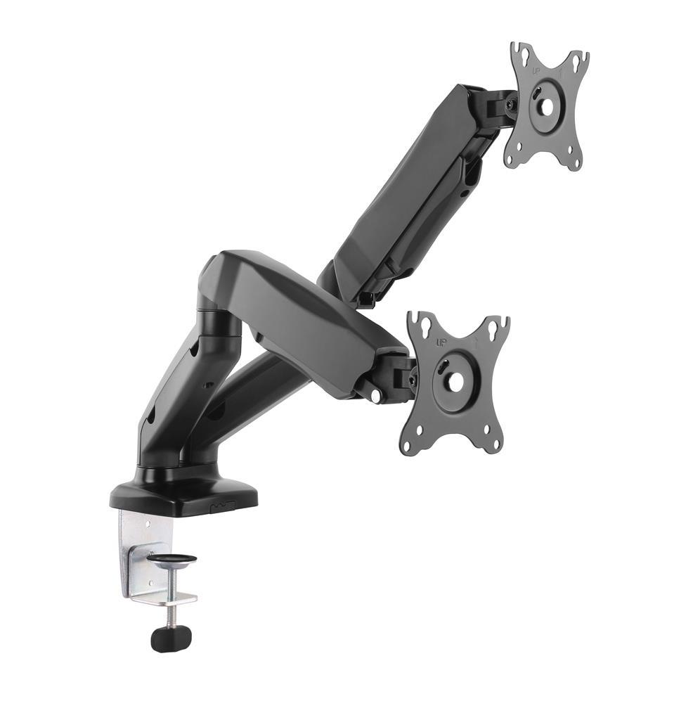 ART Desk Holder on gas spring for 2 monitors LED/LCD 13-27'' L-16GD TV stiprinājums