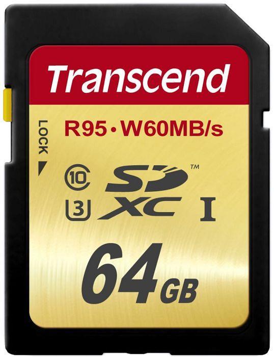 Transcend memory card SDXC 64GB Class10 UHS-I U3 (read/write: 95/60MB/s) atmiņas karte
