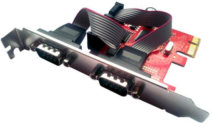 Unitek 2 Port RS-232 PCI Express Card, Y-7504 karte