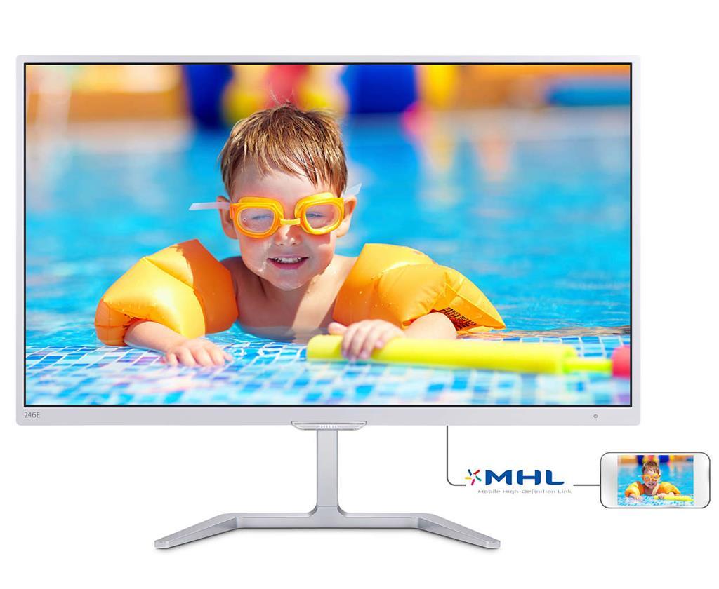 Philips 246E7QDSW/00, 23.6inch, panel PLS, D-Sub/DVI/HDMI monitors