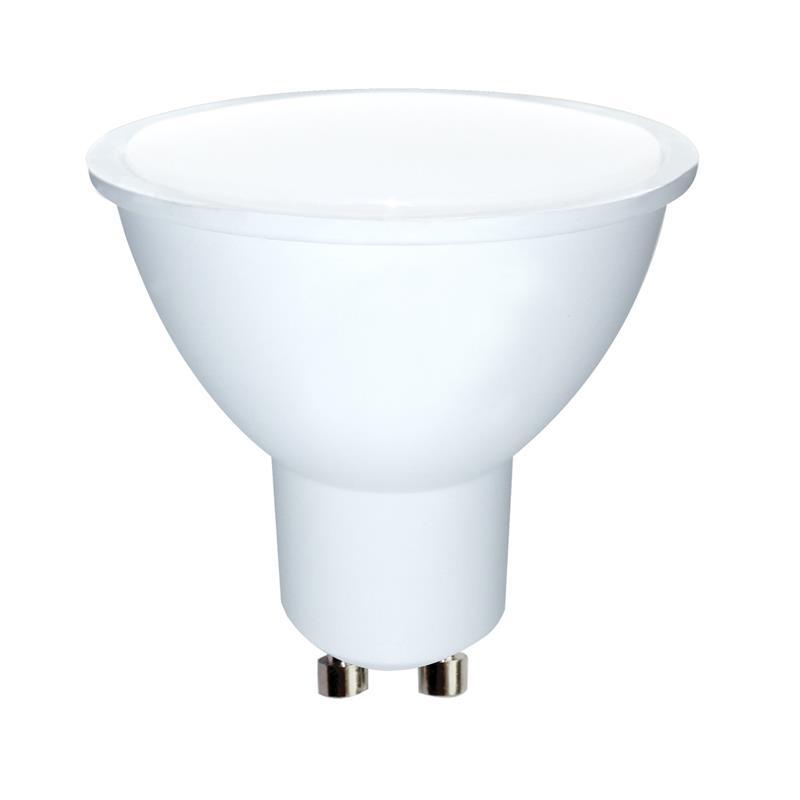 Whitenergy LED bulb | GU10 | 6 SMD 2835 | 3W | 230V | milky | MR16 apgaismes ķermenis