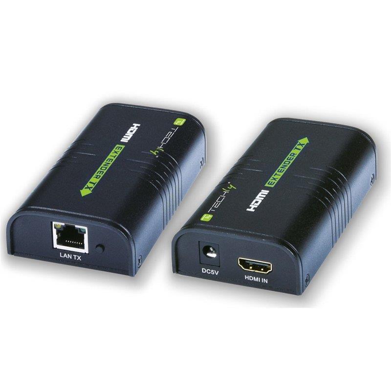 Techly HDMI extender / splitter over IP, up to 120m KVM komutators