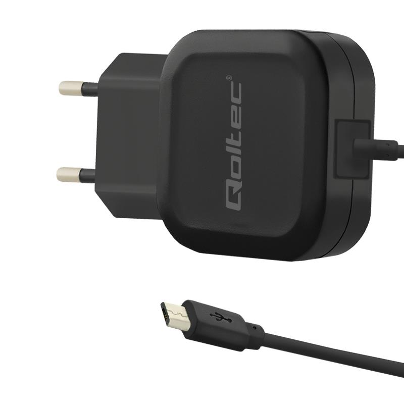 Qoltec AC adapter | 12W | 5V | 2.24A | USB+Micro USB iekārtas lādētājs