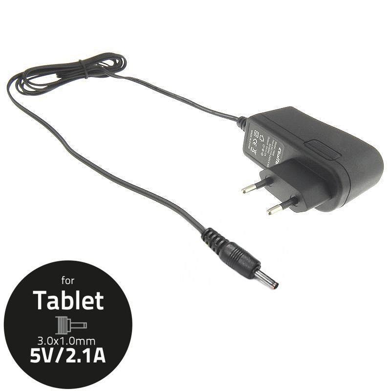 Qoltec AC adapter for Tablet 5V-2.1A, connector: 3.0x1.0 iekārtas lādētājs