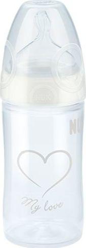 NUK Polipropileninis buteliukas su silikoniniu zinduku NUK First Choice + NEW CLASSIC, 150 ml, 0-6 men. 5032747 aksesuāri bērniem