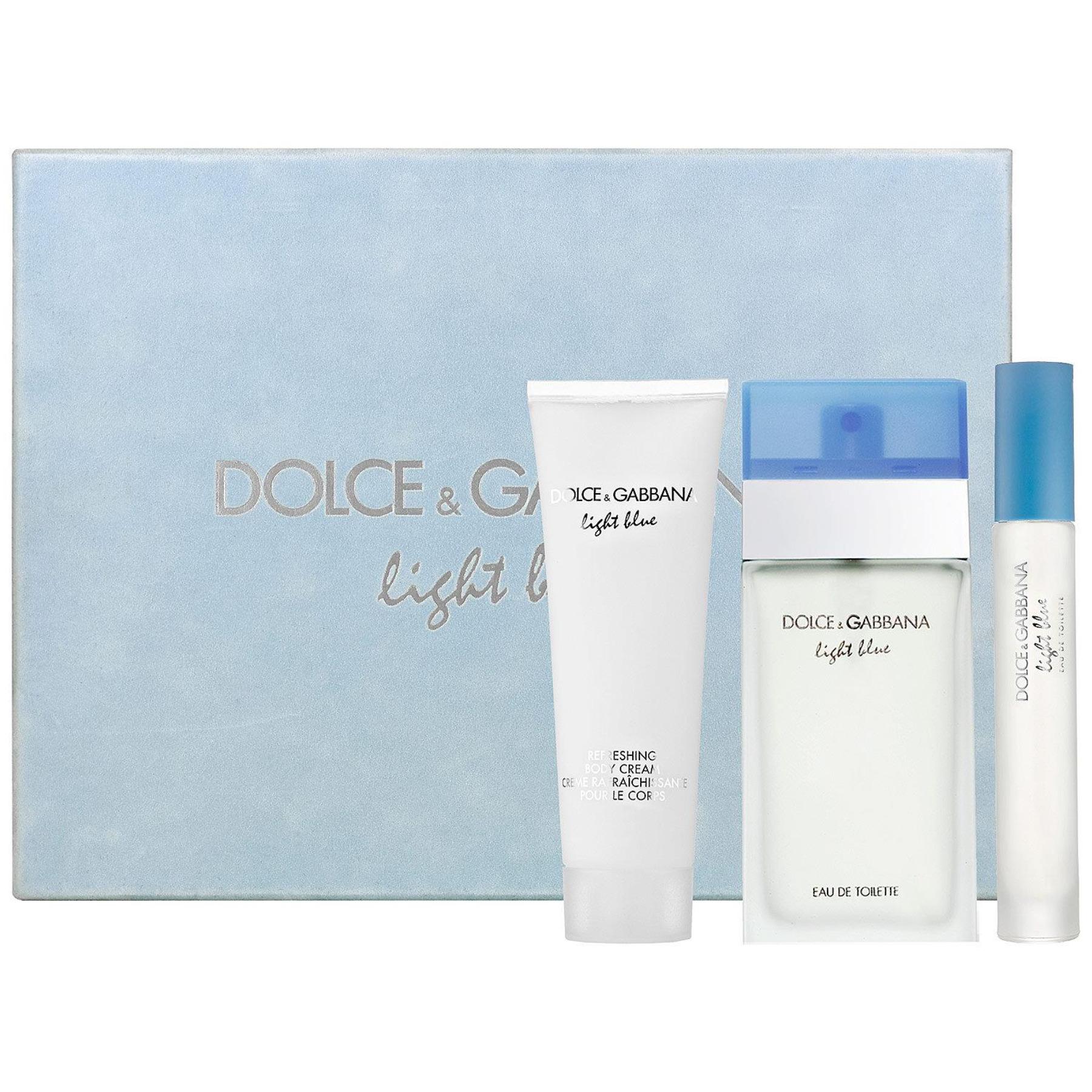 Dolce  Gabbana Light Blue Edt 100ml + 100ml Body cream + 7 4ml Edt 100ml Smaržas sievietēm