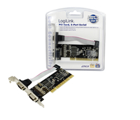 Logilink PC0016, PCI interface card, 2x com (serial), Mossnet chipset tīkla karte