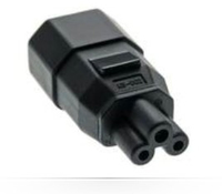 MicroConnect  Power Adapters C14 to C5 Black kabelis, vads
